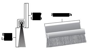 Double Door Seal Kit 8 Foot Brush
